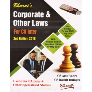 Bharat's Corporate & Other Laws for CA Inter [IPCC] November 2018 Exam by CS. Amit Vohra, CS Rachit Dhingra [New Syllabus]